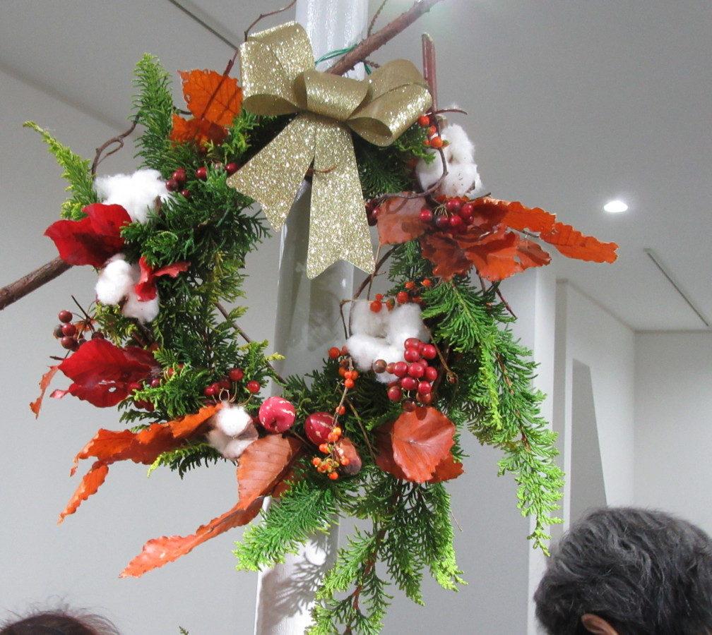 「クリスマスリース教室」楽しく終了!